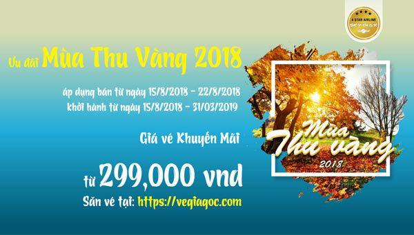 Vietnam Airline Khuyến Mãi Mùa Thu Vàng 2018