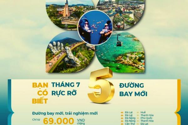 Vietnam Airlines mở thêm 5 đường bay nội địa mới từ tháng 7