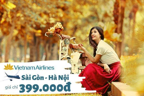 Vietnam Airlines ưu đãi đặc biệt chặng Hà Nội Sài Gòn chỉ 399k