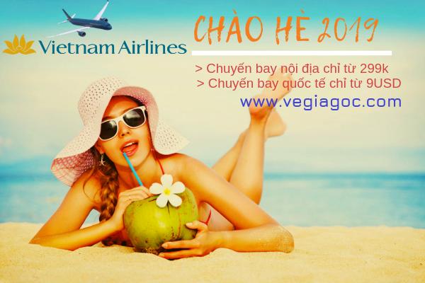 Vietnam Airlines khuyến mãi Chào Hè 2019 giá từ 299 ngàn đồng